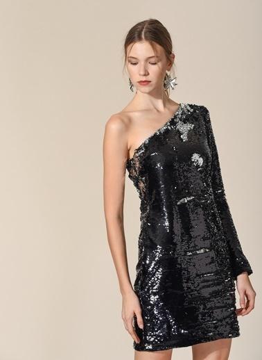 İki Renk Payetli Elbise-Agenda